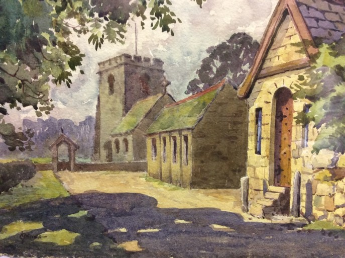 A Painting By James Brindle Known As The Deaf Ribble Artist