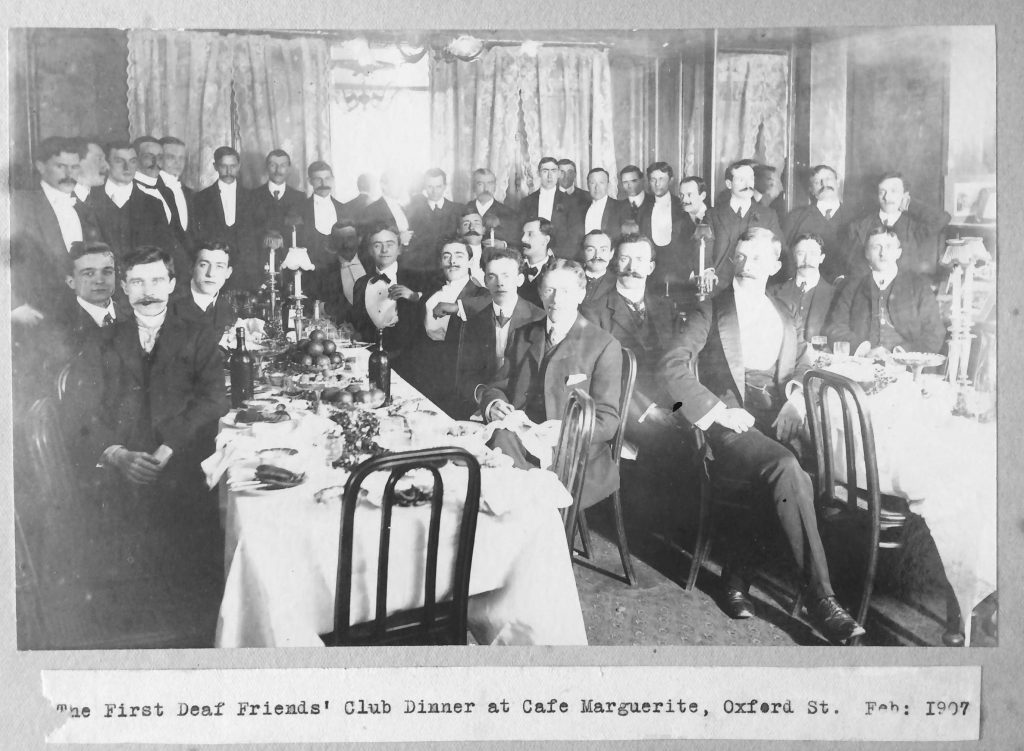1907 Photograph Of The Deaf Friends' Club's First Dinner