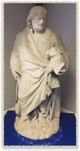 Statue Of The Good Shepherd By Joseph Gawen