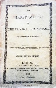The Happy Mute; Or The Dumb Child's Appeal Booklet